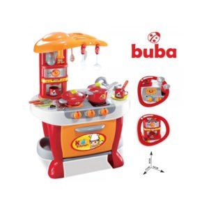 Голяма детска кухня Buba Little Chef комплект - Червена