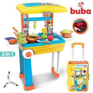 Голяма детска кухня Buba Little Chef Set - Жълта Синя