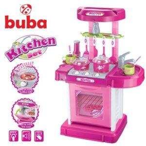 Голяма детска кухня Buba My Kitchen комплект - Розова