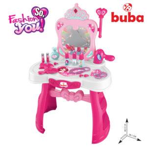 Детска тоалетка Buba Princess комплект - Розова