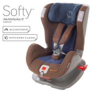 Детско столче за кола Avionaut Glider Softy F.02 - Кафяво Синьо