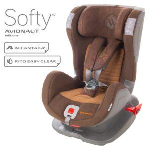 Детско столче за кола Avionaut Glider Softy F.05 - Кафяво
