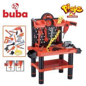 Детски комплект куфар с инструменти Buba Bricolage - Работилница
