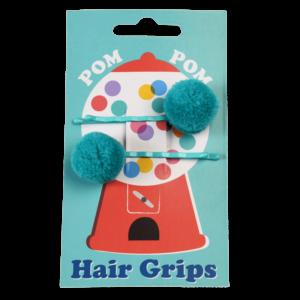 Детски фибички за коса с помпони - Сини Rex London MT29205