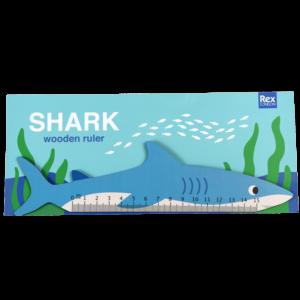Дървена линийка за ученици - Акула Rex London MT29324