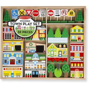 Дървен комплект за игра - Създай град - Melissa & Doug MT14796