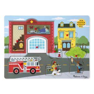 Дървен музикален пъзел - Около пожарната Melissa & Doug MT10736_1