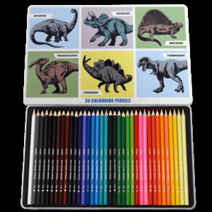 Комплект цветни моливи - 36 цвята - Праисторическа земя Rex London MT29277_1