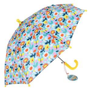 Лек детски чадър на цветя и пеперуди - Rex London MT29245