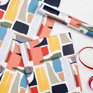 Опаковъчна хартия - Абстрактни фигури Rex London MT27596