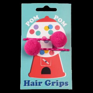 Фибички за коса с помпони - Цикламени Rex London MT29203