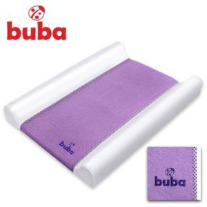Бебешка подложка за преповиване Buba Fluffy - Лилава