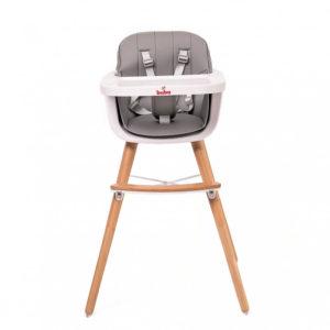 Бебешко столче за хранене Buba Carino - Сиво