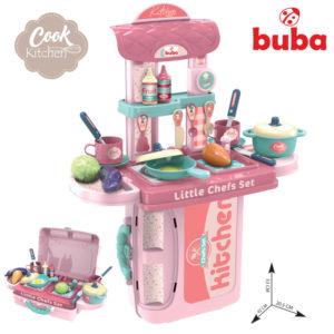 Детска игра под формата на кухня комплект Buba - Розова