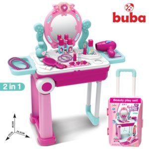 Детска игра под формата на тоалетка комплект Buba - Розова