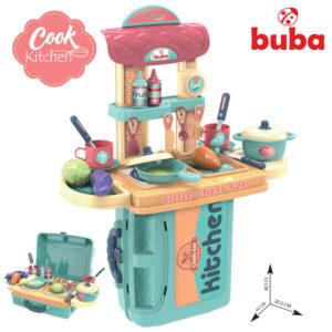Детска кухня комплект в куфар за игра - Buba - Синя