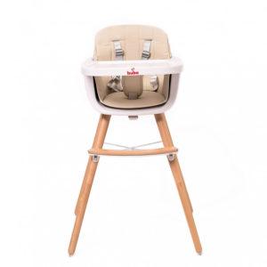 Компактно бебешко столче за хранене Buba Carino - Слонова кост