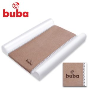 Подложка за преповиване на бебе Buba Fluffy - Бежова