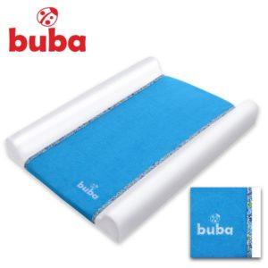 Подложка за преповиване на бебе Buba Fluffy - Синя